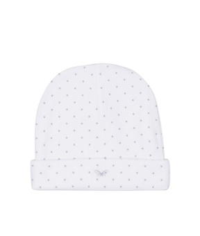 Saturday Ninni Hat White/Silver Dots