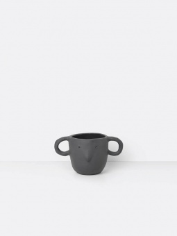 Mus Plant Pot Small - Dark Grey
