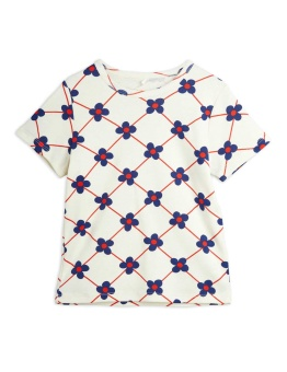 Flower check aop ss tee OFFWHITE