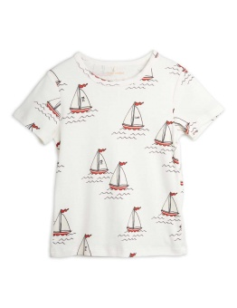 Sailing boats aop ss tee WHITE