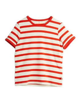 Stripe ss tee RED