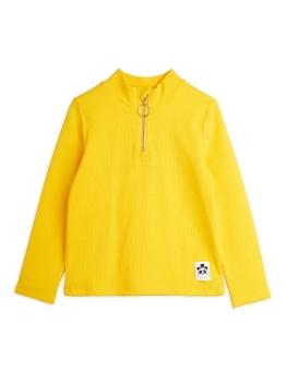 Rib ls zip tee Yellow