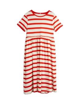Stripe ss dress Red
