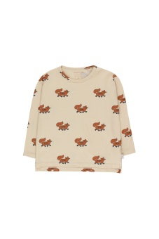 Foxes LS Tee Cream /Brown