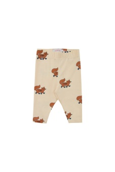 Foxes Leggings Creamy/Brown