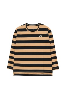 Tiny Fuji Stripes LS Tee Camel/Black