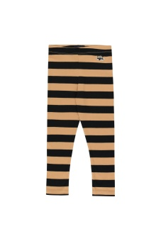 Tiny Fuji Stripes Leggings camel/Black