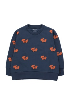 Foxes Sweatshirt Light Navy/Sienna