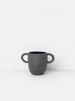 Mus Plant Pot Large - Dark Grey