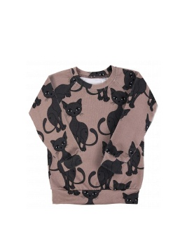 BROWN CAT JERSEY LONGSLEEVE