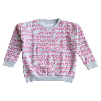 The Classic Sweater Hotdogs Repeat Hot Pink