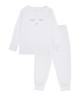 Sleeping Cutie 2 piece set white/grey
