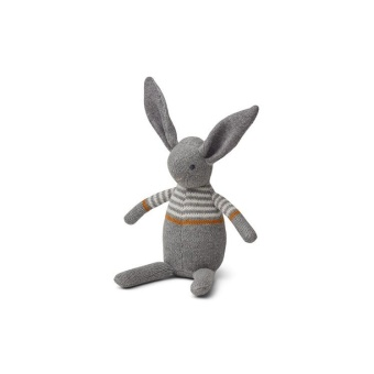 Vigga knit mini Teddy rabbit grey