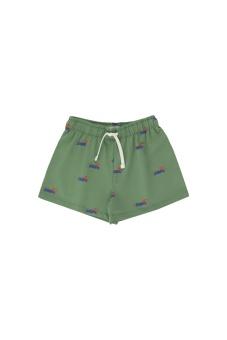DOGGY PADDLE SHORT green/iris blue