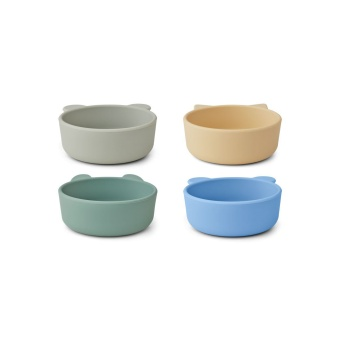 Iggy Silicone Bowls 4 pack Pepparmint mix