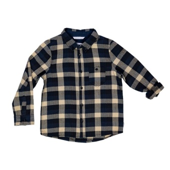 Shirt Navy/sand checks