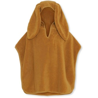 KIDS TERRY PONCHO MUSTARD