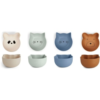 Rex Snack Bowl 4-Pack Mix Rose