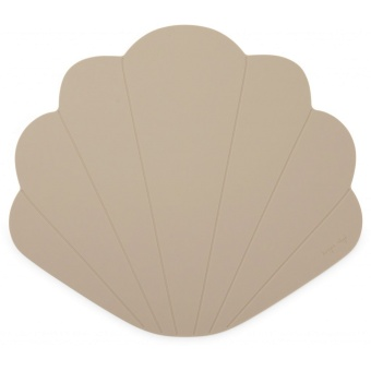 SILICONE PLACEMAT CLAM  WARM GREY