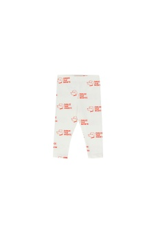 """DOGS"" PANT off-white/red"