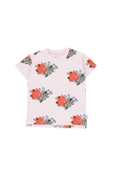 """FLOWERS"" TEE light pink/red"