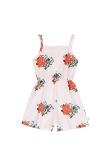 """FLOWERS"" ROMPER light pink/red"
