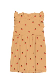 """""""STRAWBERRIES"""" DRESS toffee/red"""