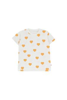 """HEARTS"" TEE off-white/yellow"