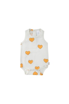 """""""HEARTS"""" BODY off-white/yellow"""
