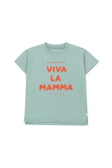 """""""VIVA LA MAMMA"""" TEE sea green/re"""