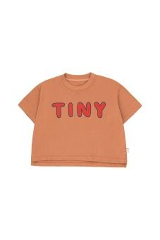 """""""TINY"""" CROP TEE tan/red"""
