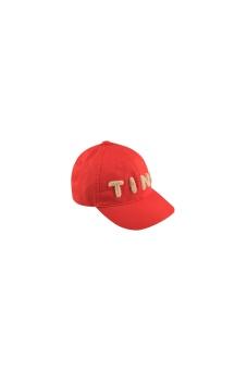 """TINY"" CAP *red/light cream*"
