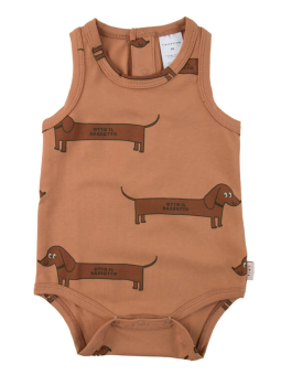 """IL BASSOTTO"" BODY/tan/dark brown"