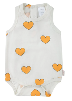 """HEARTS"" BODY off-white/yellow"