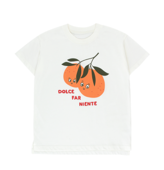 """ORANGES"" TEE *off-white/brick*"