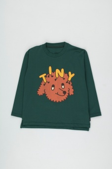 TINY DOG TEE dark green/sienna