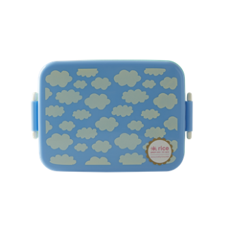 Large Lunchbox with Divider Cloud Print Blue