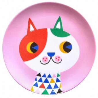 Melamine Plate, Cat