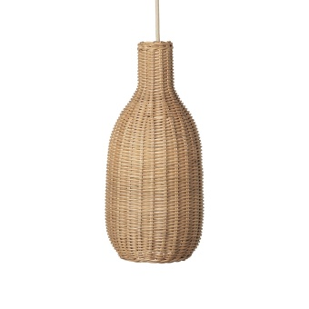 Braided Lampshade Bottle, Natural