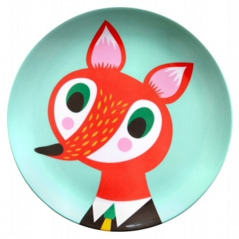 Melamine Plate, Fox
