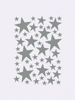Wallstickers Stjärnor Grå