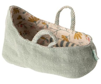 Maileg - Carry cot, My, Dusty green