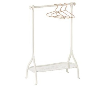 CLOTHES RACK - OFF WHITE, INCL. 3 HANGERS