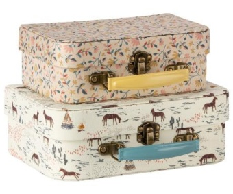 SUITCASE W. FABRIC - 2 PCS.