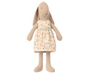 Maileg Bunny size 1, Blommig klänning
