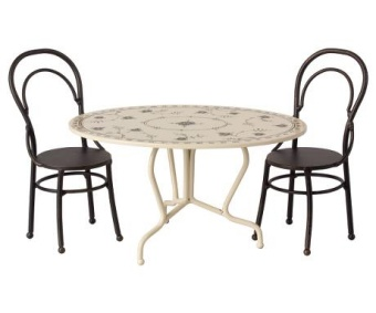 DINING TABLE SET, MINI - ANTHRACITE