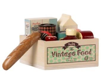Vintage Mat i låda