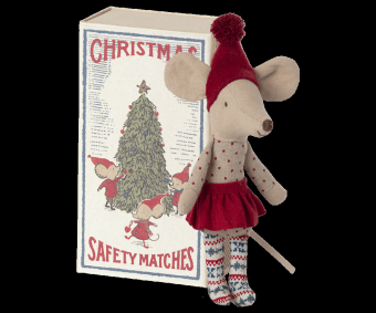 Christmas mouse in matchbox, Big sister