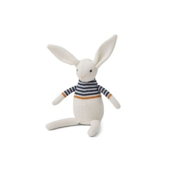 Vigga knit mini Teddy rabbit white