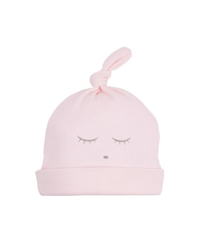 sleeping cutie tossie hat pink/grey